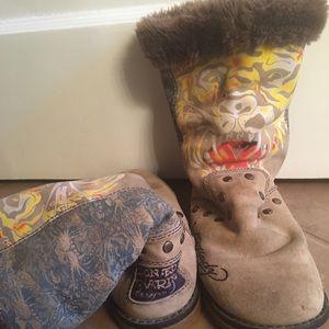🔻Ed Hardy Tiger Tattoo Suede Snowblazer Boots